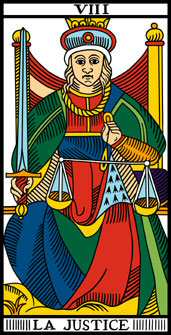 tarot numerologie 8-VIII-Justice