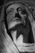 portrait ste Elisabeth cousine de la Vierge en noir et blanc